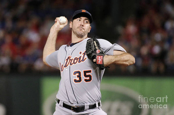 American League Baseball Art Print featuring the photograph Justin Verlander by Harry How