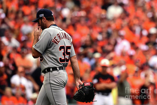 Game Two Art Print featuring the photograph Justin Verlander by Patrick Smith