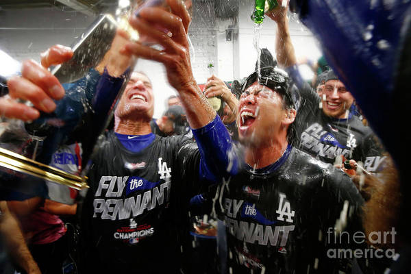Championship Art Print featuring the photograph Kenta Maeda by Jamie Squire