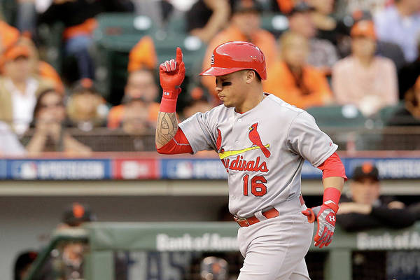 St. Louis Cardinals Art Print featuring the photograph Kolten Wong by Ezra Shaw