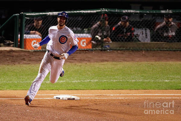 People Art Print featuring the photograph Kris Bryant by Jamie Squire