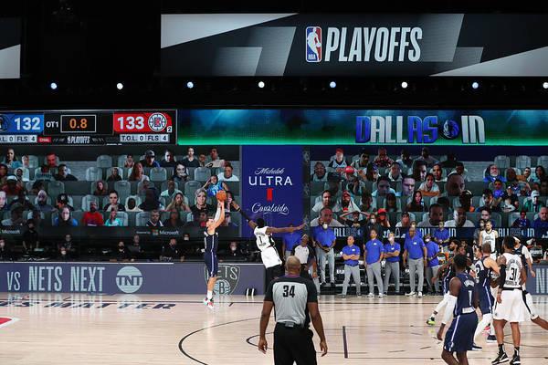 Playoffs Art Print featuring the photograph LA Clippers v Dallas Mavericks - Game Four by Joe Murphy