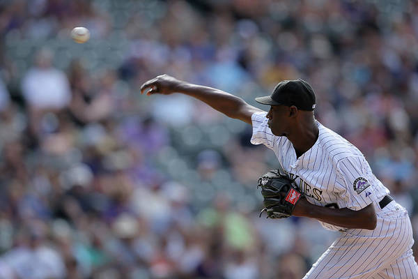 Working Art Print featuring the photograph Latroy Hawkins by Doug Pensinger
