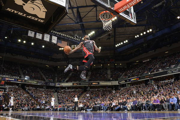 Nba Pro Basketball Art Print featuring the photograph Lebron James by Rocky Widner