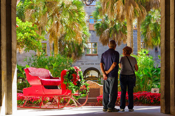 2010-2019 Art Print featuring the photograph Lightner Museum, St Augustine, Florida by Benedek