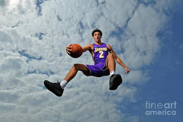 Nba Pro Basketball Art Print featuring the photograph Lonzo Ball by Jesse D. Garrabrant