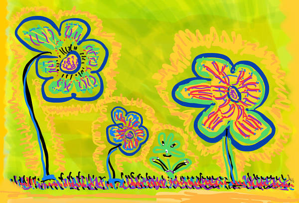 Spring Art Print featuring the drawing Looking for Spring by Pam Roth O'Mara