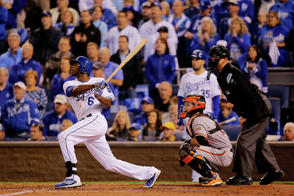 Second Inning Art Print featuring the photograph Lorenzo Cain by Doug Pensinger