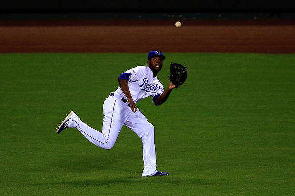 People Art Print featuring the photograph Lorenzo Cain by Jamie Squire