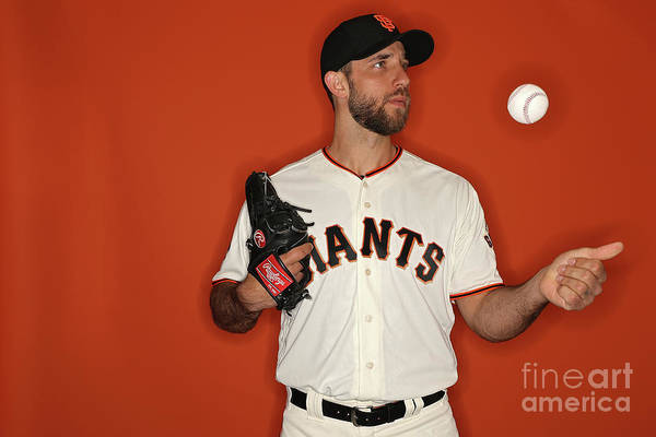 Media Day Art Print featuring the photograph Madison Bumgarner by Patrick Smith