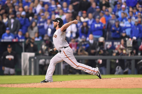 Playoffs Art Print featuring the photograph Madison Bumgarner by Rob Tringali