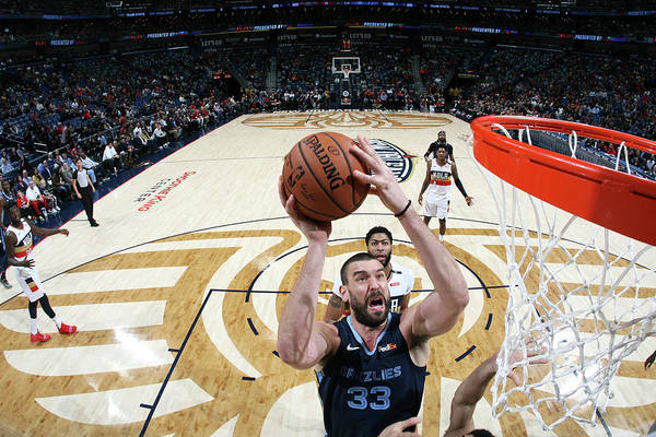 Smoothie King Center Art Print featuring the photograph Marc Gasol by Layne Murdoch Jr.