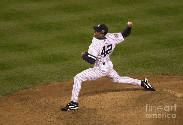 People Art Print featuring the photograph Mariano Rivera by Ezra Shaw