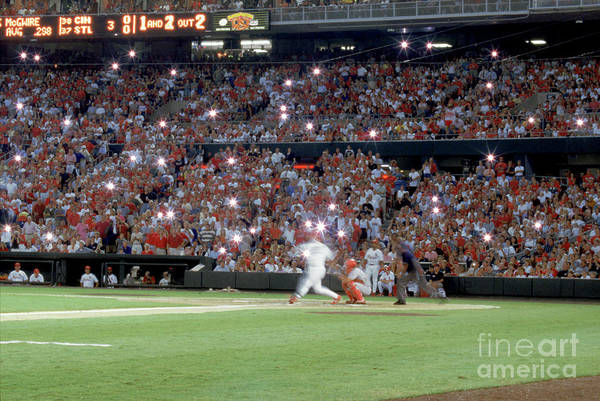 St. Louis Cardinals Art Print featuring the photograph Mark Mcgwire by Rich Pilling