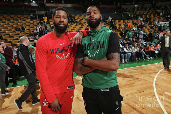 Nba Pro Basketball Art Print featuring the photograph Markieff Morris and Marcus Morris by Ned Dishman