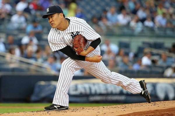 Second Inning Art Print featuring the photograph Masahiro Tanaka by Mike Stobe