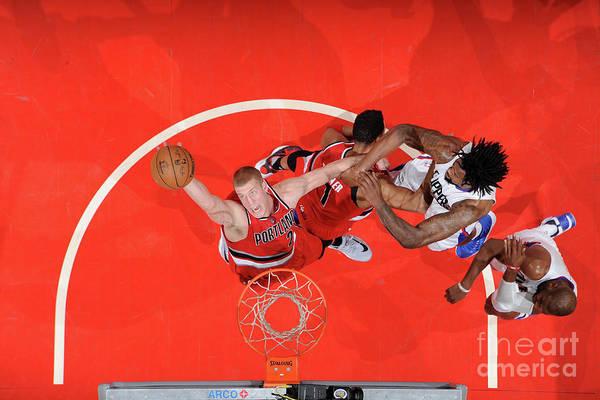 Nba Pro Basketball Art Print featuring the photograph Mason Plumlee by Andrew D. Bernstein