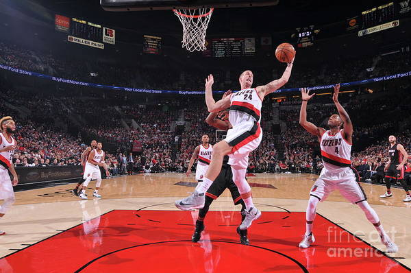 Nba Pro Basketball Art Print featuring the photograph Mason Plumlee by Sam Forencich