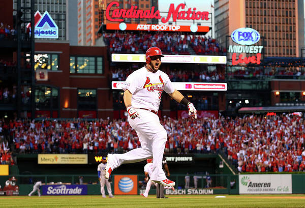 St. Louis Cardinals Art Print featuring the photograph Matt Adams by Dilip Vishwanat