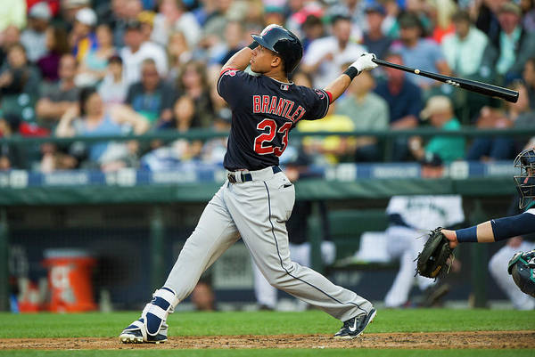 People Art Print featuring the photograph Michael Brantley by Rich Lam