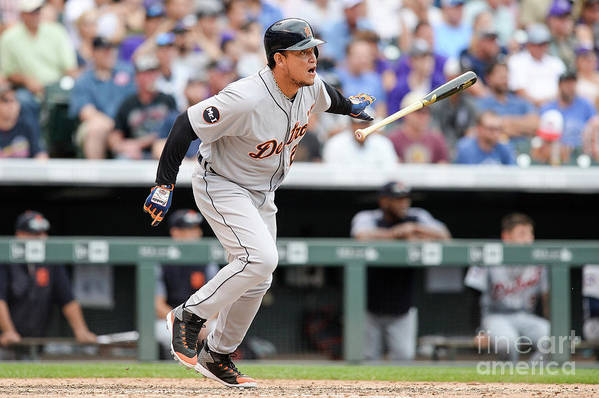 Double Play Art Print featuring the photograph Miguel Cabrera by Dustin Bradford