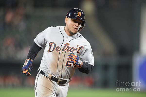 Three Quarter Length Art Print featuring the photograph Miguel Cabrera by Mitchell Layton