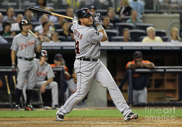 People Art Print featuring the photograph Miguel Cabrera by Nick Laham