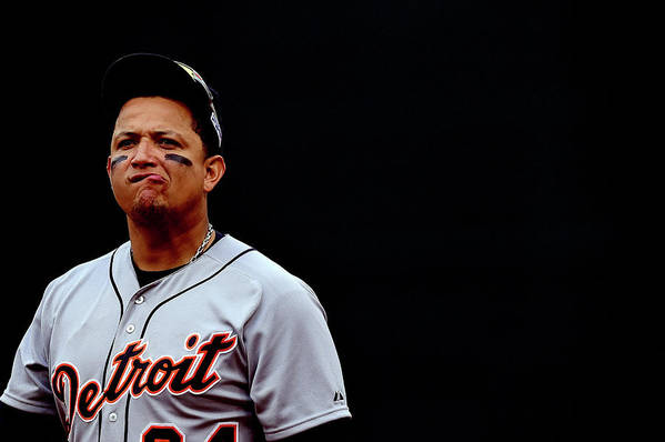 Game Two Art Print featuring the photograph Miguel Cabrera by Patrick Smith
