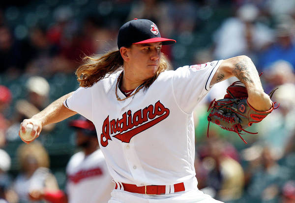 American League Baseball Art Print featuring the photograph Mike Clevinger by David Maxwell