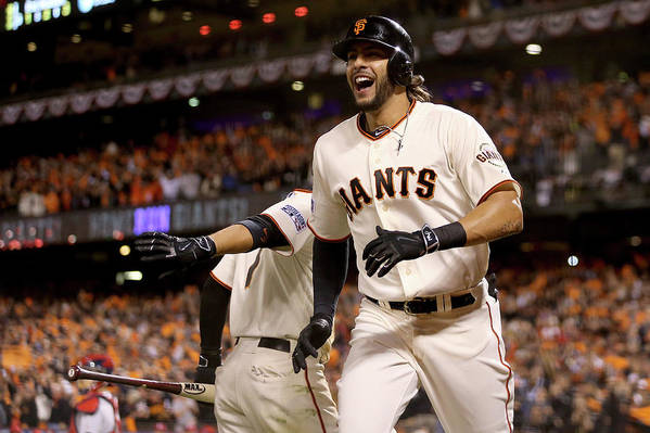 Playoffs Art Print featuring the photograph Mike Morse by Christian Petersen