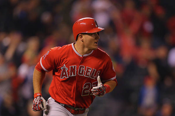 People Art Print featuring the photograph Mike Trout by Justin Edmonds