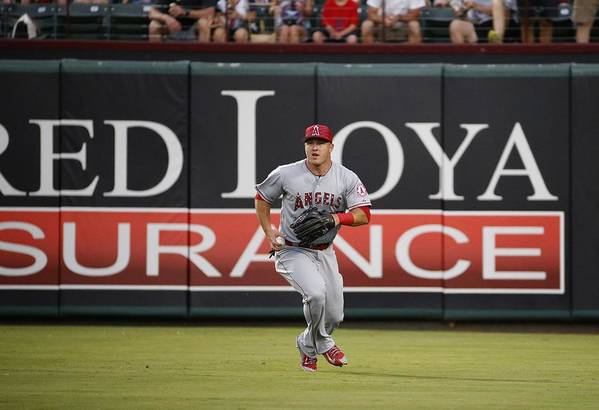 People Art Print featuring the photograph Mike Trout by Ron Jenkins