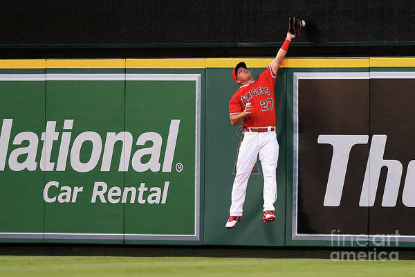 People Art Print featuring the photograph Mike Trout by Sean M. Haffey