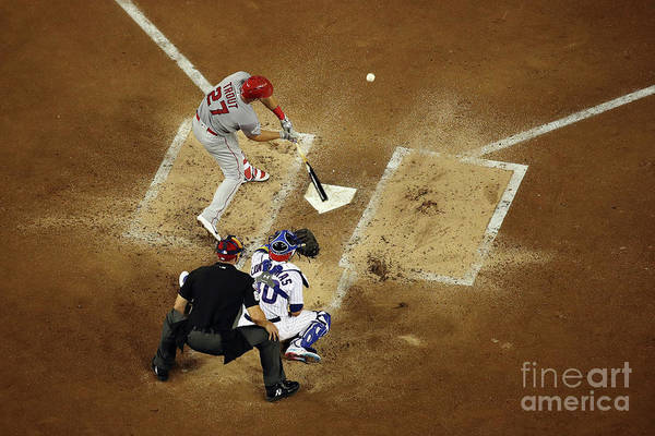 People Art Print featuring the photograph Mike Trout by Win Mcnamee