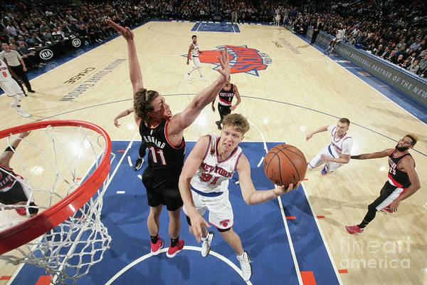 Nba Pro Basketball Art Print featuring the photograph Mindaugas Kuzminskas by Nathaniel S. Butler