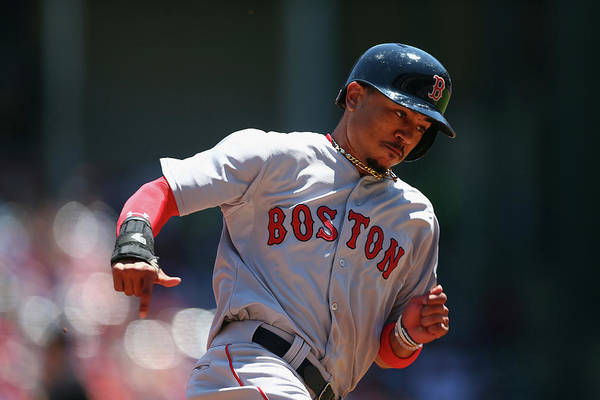 People Art Print featuring the photograph Mookie Betts by Ronald Martinez