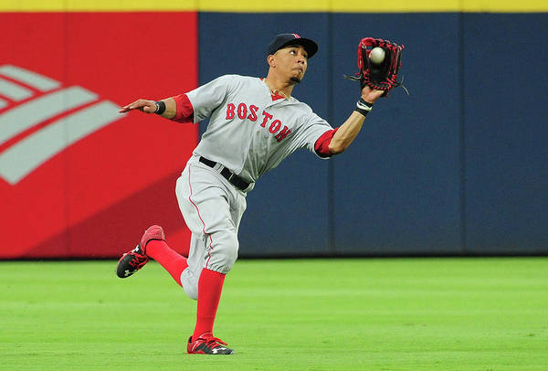 Atlanta Art Print featuring the photograph Mookie Betts by Scott Cunningham