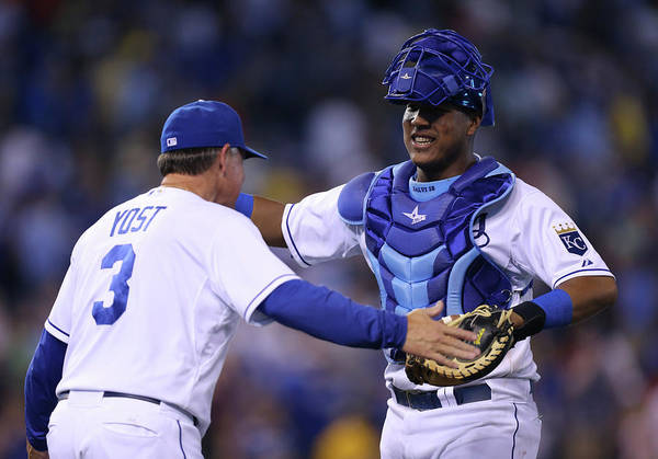 Salvador Perez Diaz Art Print featuring the photograph Ned Yost by Ed Zurga