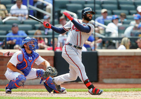 Following Art Print featuring the photograph Nick Markakis by Jim Mcisaac