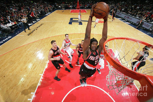 Nba Pro Basketball Art Print featuring the photograph Noah Vonleh by Ned Dishman