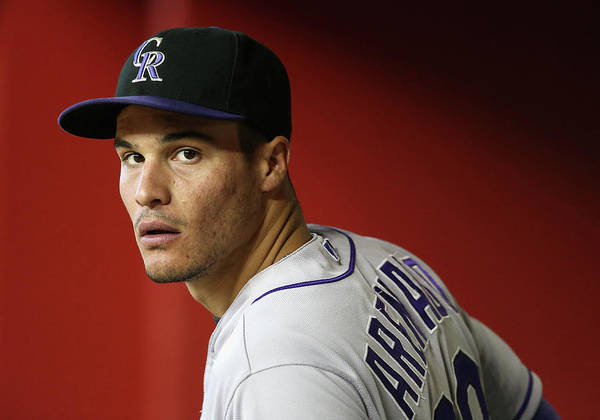 National League Baseball Art Print featuring the photograph Nolan Arenado by Christian Petersen