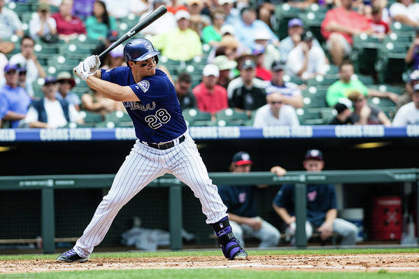 Motion Art Print featuring the photograph Nolan Arenado by Peter Lockley