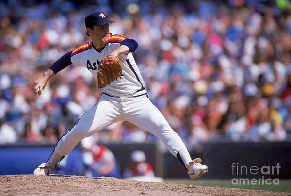 1980-1989 Art Print featuring the photograph Nolan Ryan by Ron Vesely