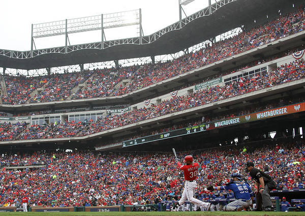 Game Two Art Print featuring the photograph Nomar Mazara by Ronald Martinez