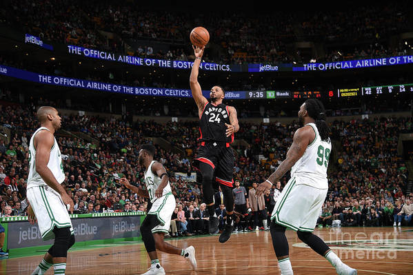 Nba Pro Basketball Art Print featuring the photograph Norman Powell by Brian Babineau
