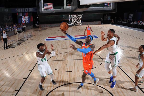 Nba Pro Basketball Art Print featuring the photograph Oklahoma City Thunder v Boston Celtics by David Sherman