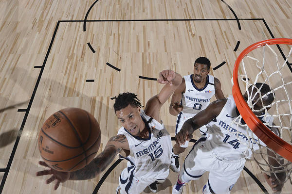 Nba Pro Basketball Art Print featuring the photograph Oklahoma City Thunder v Memphis Grizzlies by Joe Murphy