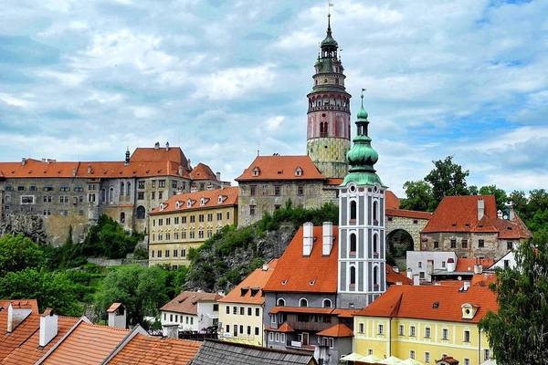 Cesky Krumlov Art Print featuring the photograph Overview of Cesky Krumlov by Kirsten Giving