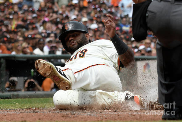 San Francisco Art Print featuring the photograph Pablo Sandoval by Thearon W. Henderson