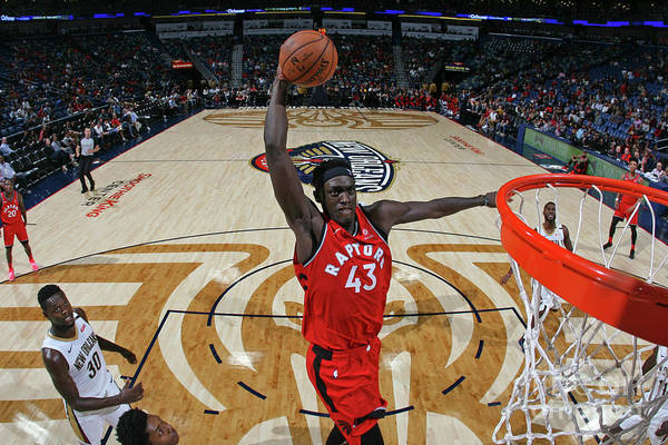 Smoothie King Center Art Print featuring the photograph Pascal Siakam by Layne Murdoch Jr.